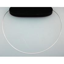 Corrente Em Prata 925 - Rabo De Rato C/ Aro Rígido- 45 Cm