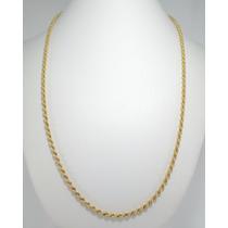 Cordão Masculino Singapura Grosso 70 Cm Em Ouro 18k 750