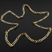 Corrente Elos Figaro Em Ouro Maciço Amarelo 20 Gramas