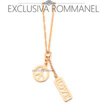 Rommanel Gargantilha Berloque Simbolo Paz Love 541574 531154