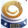 Corrente Colar Masculina Folhado A Ouro 24 K, 10 Milimetro