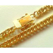 Corrente Cordão Maculino Folheado Banhado Ouro 18k 60cm 8mm