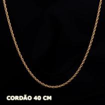 Cordão - Corda - Corrente Em Ouro 18k - 750 - 2,10gr - 40cm