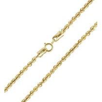 Corrente Cordão De Ouro 18k Torcido / Baiano 45cm