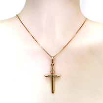 Pingente Crucifixo Cruz Em Ouro Amarelo 18k Certificado