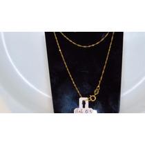 Cordão Colar Corrente Em Ouro Amarelo 18k Ref 03