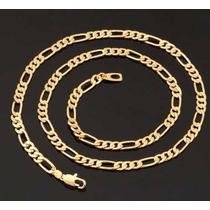 Corrente Masculina 60cm Banhada A Ouro 18k - Com Certificado