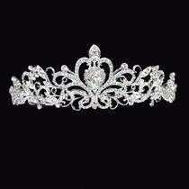 Coroa Tiara Pra Noiva De Cristal Importada Egito