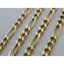 Cordão / Corrente Ouro 18k Masculino - Malha Grumet 3 X 1