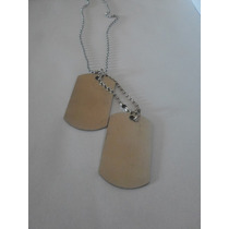 Kit(10)-colar Militar Exército Corrente C/placa 2dogtag Inox