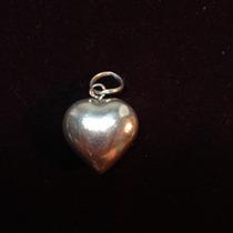 Pingente Berloque Feminino Em Forma De Coração Em Prata 925