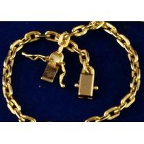 Corrente Masculina 70cm Banhada A Ouro 18k Cordão Cartier