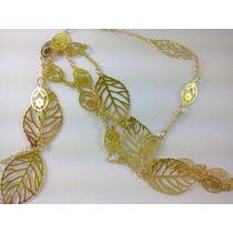 Cordao Colar Folheado Ouro 18k Novo Designer Moda Elegante