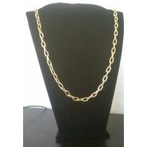 Cordão Cadeado Em Prata Banhado A Ouro 18k _ 3 Camadas