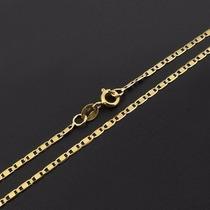 Gargantilha Piastrine Feminina Em Ouro 18k-750 Frete-grátis