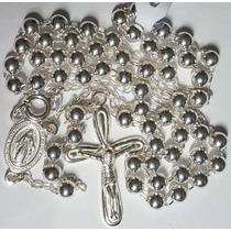Colar Terço Feminino De 57cm E 11,8gr, Prata 925