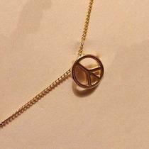 Corrente Banhada A Ouro Com Simbolo Da Paz