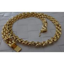 Gargantilha Corrente Cordao Ouro 18k Feminino 32.7 Gramas