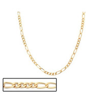 Corrente Ouro Folheada Fio Alternado 4x2 Rommanel 530231