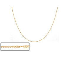 Corrente Rommanel 42cm Folheado Ouro 530694 Fio Grumet