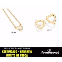 Conjunto Gargantilha 531182 + Brincos 524177 Coraç Rommanel