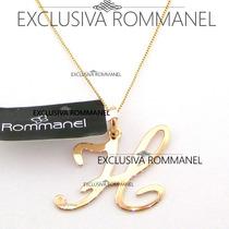Rommanel Gargantilha Pingente Com Letra H Nome 540675 531315