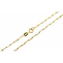 Corrente Feminina Ouro 18k Elo Cadeado Cartier 45cm 1876