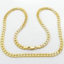 Corrente Masculina 45cm 5mm Largura Folheada Ouro Cr509