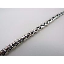 Cordão Corrente De Bali Palmera Trançada 70cm Em Prata 925