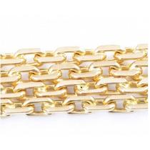 Corrente Elo Cadeado Cartier Ouro Amarelo18k-750!frete Fre!