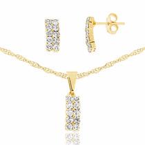 Gargantilha Em Ouro 18k Feminina Cristal Swaroviski Promoção