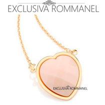 Rommanel Gargantilha Colar Corrente Rosa Fol Ouro 18k 531225