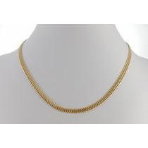 Cordão Grumet Feminino 45cm Colar Ouro 18k Certificado