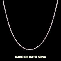 Corrente Rabo De Rato Em Prata 925 - 50cm 7,5gr Frete Grátis