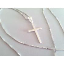 Prata925 Corrente Masculina 50cm + Crucifixo 2,5m