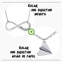 Kit Colar One Direction Infinito + Colar Aviao De Papel 1d