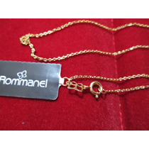 Corrente Gargantilha Rommanel Folheado A Ouro 18k 44cm