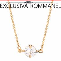 Rommanel Gargantilha Corrente Zirconia Ponto De Luz 531578