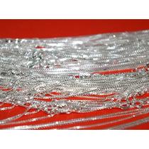 10 Unidades Corrente De Prata 925 Veneziana 50 Cm X 0,8 Mm