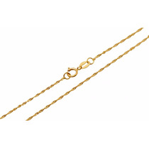 Gargantilha Colar Feminina Singapura De Ouro 18k-750