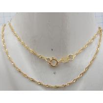 1489 Corrente Singapura 45 Cm De Ouro 18k 750 W