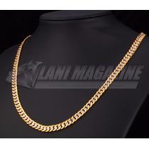 Corrente Cordão Grummet 7mm Banhado A Ouro 18k E Prata 925