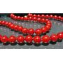 Hs Pedras - Colar Corais Vermelhos 6mm E Ouro 18, Cód160c50