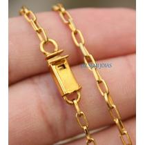Corrente Cordão Folheado A Ouro 18k 3mm