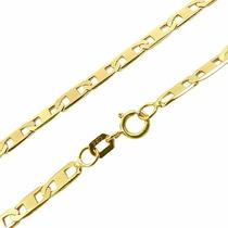 Colar Cordão Feminina Piastrine 45cm Ouro18k750-frete Grátis