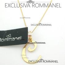 Rommanel Gargantilha Pingente Com Letra C Nome 540675 531315