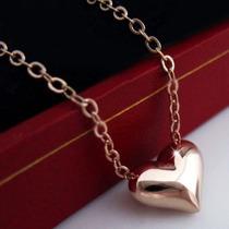 Colar Pingente Coração Banhado A Ouro Rose 18k Frete Gratis