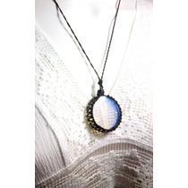 Colar Amuleto Hippie Pedra Da Lua/opala Feminino . Masculino