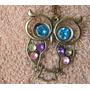 @@ Colar Feminino Coruja Vintage Pedrinhas Coloridas @@