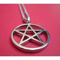 Colar Pingente Amuleto Pentagrama + Revista Wicca
